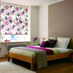 Фото 45: Рулонные шторы в спальне