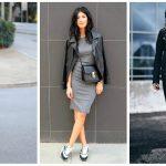 Фото 33: Кожаные куртки с платьем