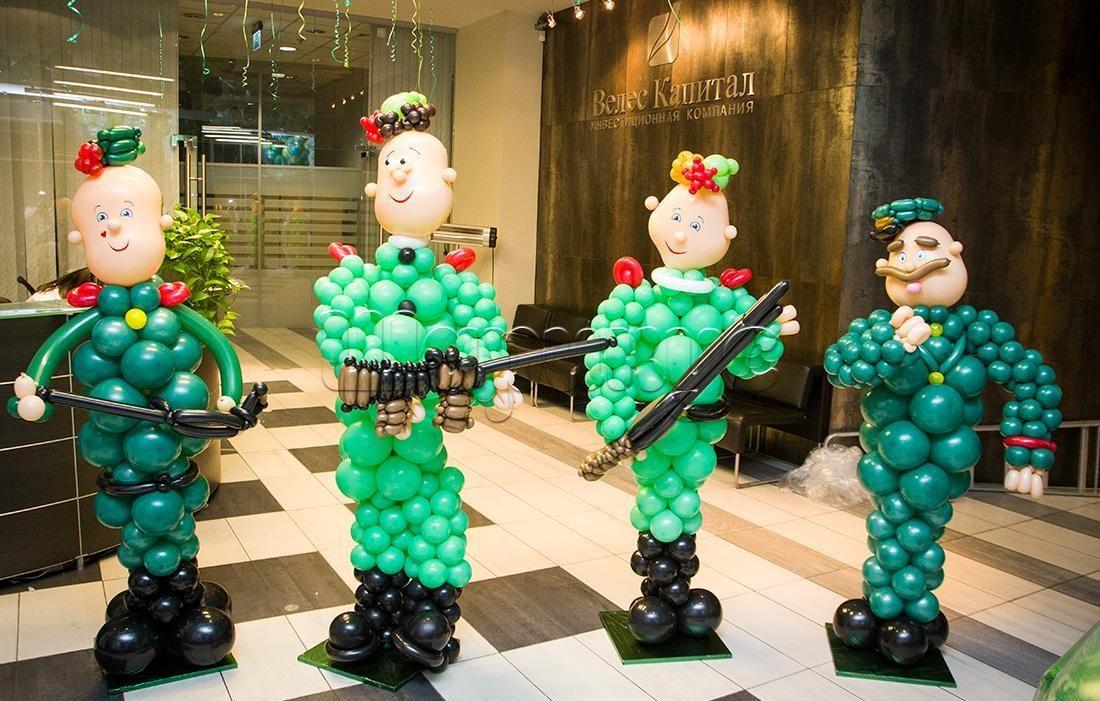 Заказать фигуры из шариков на 23 февраля