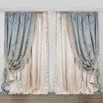 Фото 34: Шелковые шторы в гостиной