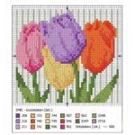 Фото 128: Скачать схему вышивки тюльпанами на 8 марта
