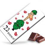 Фото 24: Идея обертки для шоколад на 23 февраля с оберткой-открыткой