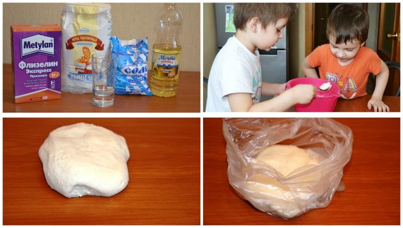 Ингредиенты для соленого теста рецепт