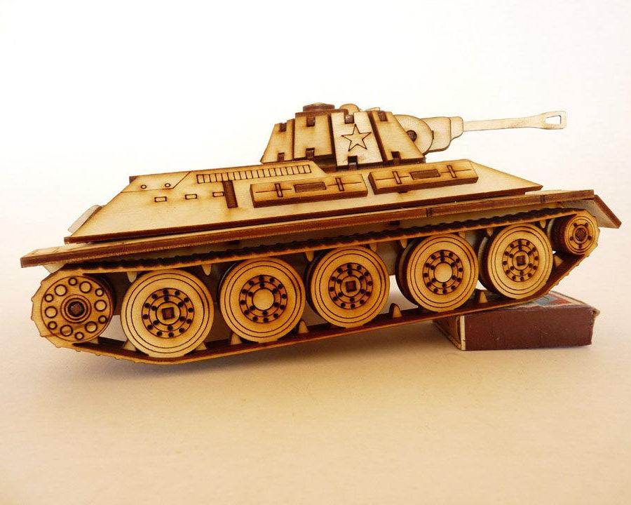 Поделка объемный танк из фанеры