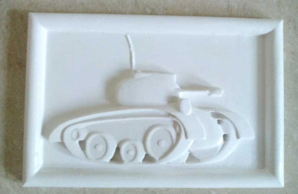 Картина танк из гипса своими руками