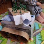 Фото 32: Сделать поделку танк из коробок на 23 февраля