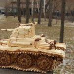 Фото 34: Поделка танк из спичек самостоятельно