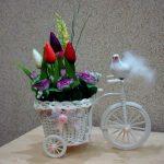Фото 11: Подарок композиция на 8 Марта с цветами