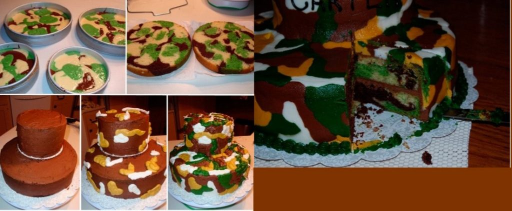 Как приготовить торт с камуфляжем своими руками на 23 февраля