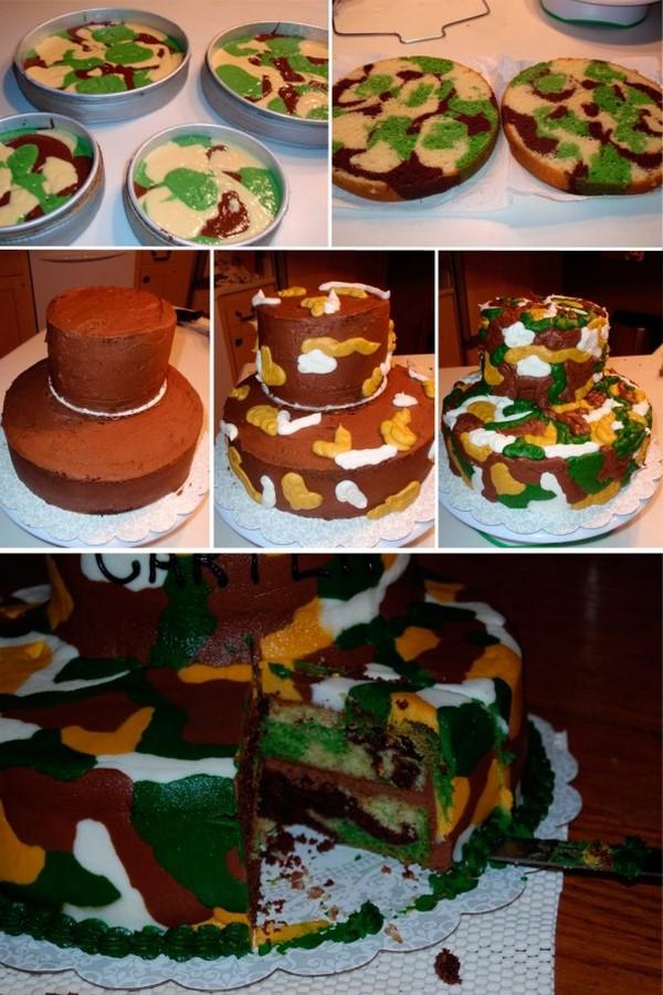 Испечь торт на 23 февраля своими руками
