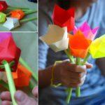 Фото 89: Поделка тюльпаны из бумаги своими руками