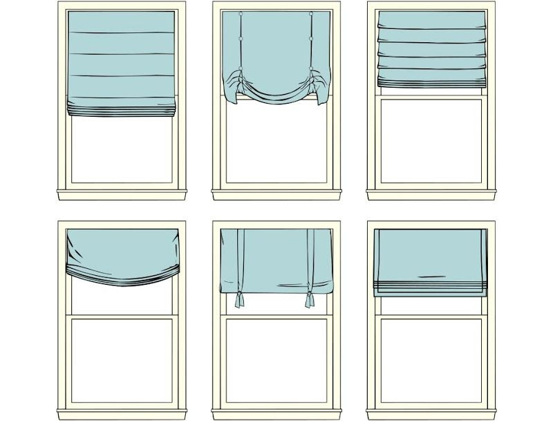 Виды римских штор для спальни