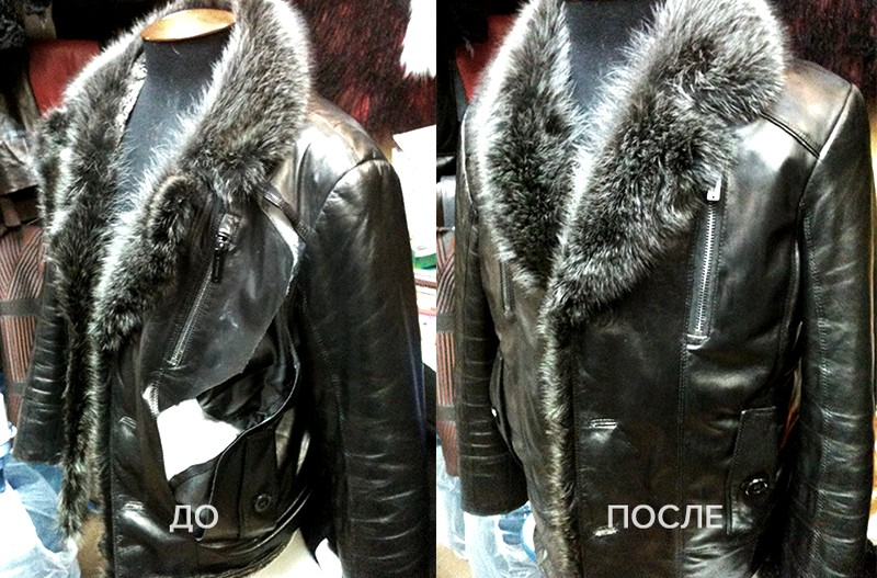 Замена повреждённого элемента куртки