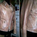 Фото 9: Заплатка на кожаной куртке