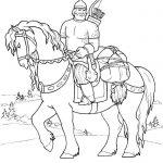 Фото 41: Нарисовать богатыря на коне