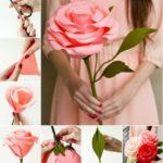 Фото 49: Как сделать большой цветок из бумаги своими руками