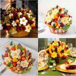 Фото 25: Букеты из фруктов к 8 Марта