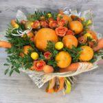 Фото 59: Букет из цитрусов и цветов