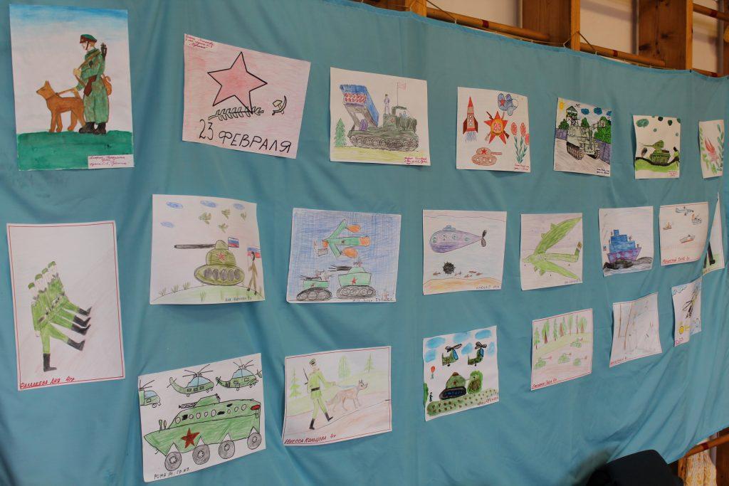 Конкурс рисунков ко Дню Защитника Отечества в школе