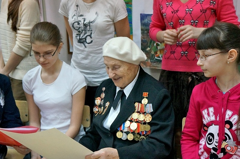 Встреча ветеранов  Великой Отечественной Войны со школьниками