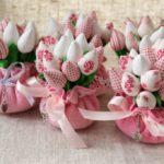 Фото 40: Мягкий букет тюльпанов на 8 марта своими руками
