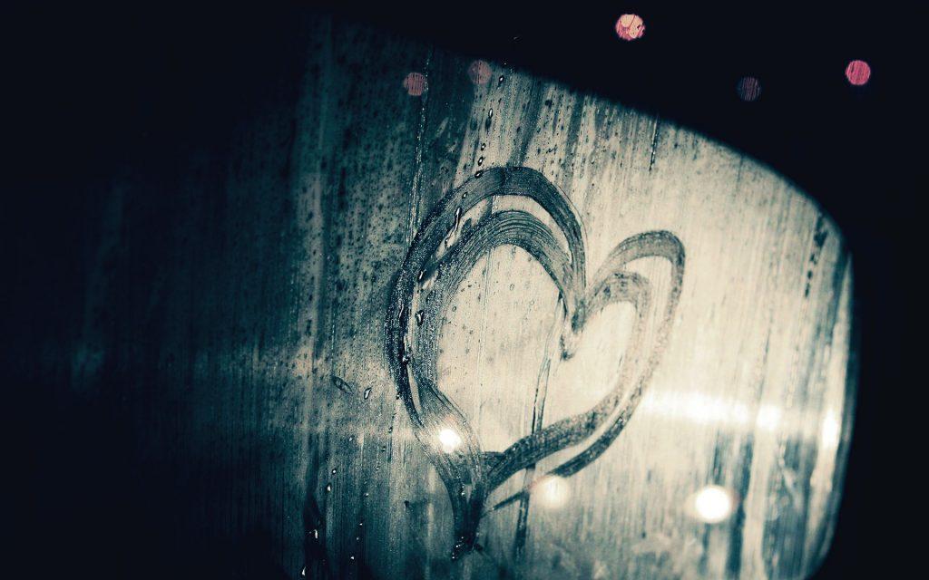 Любовное послание на окне к 14 февраля