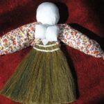 Фото 74: Небольшая масленица из соломенного веника