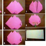 Фото 46: Объемная открытка-оригами с тюльпаном