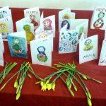 Фото 35: Открытки и цветы девочкам к 8 Марта