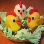 Фото 77: Петушки из упаковок от шоколадных яиц