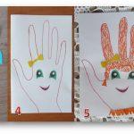 Фото 38: Портреты мам ладошками на 8 марта