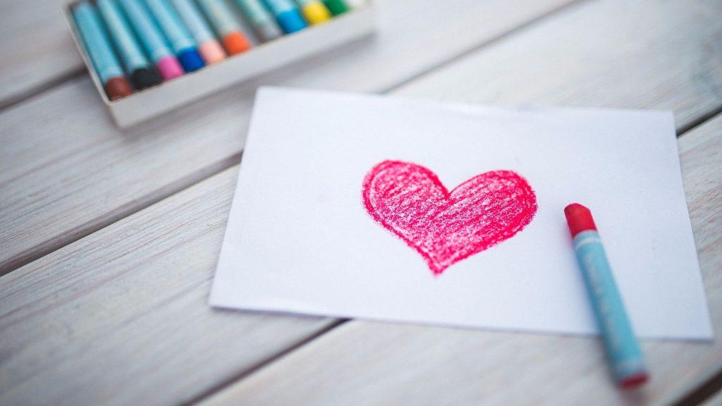 Рисование валентинки