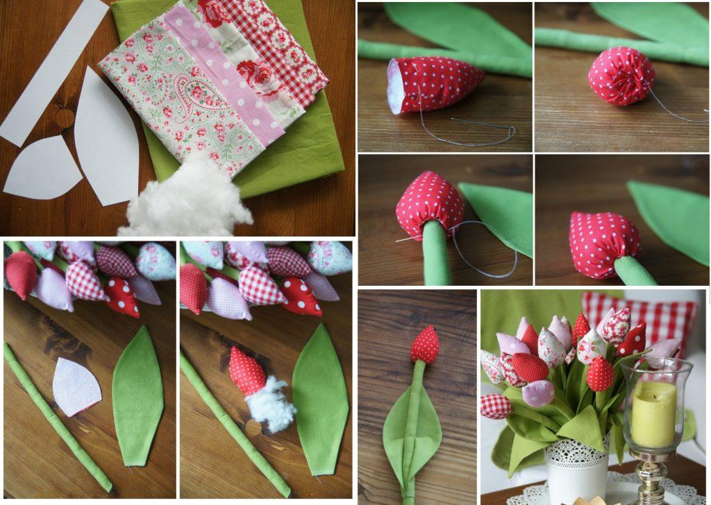 Как сшить мягкие тюльпаны из ткани своими руками