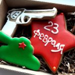 Фото 43: Набор подарочного печенья на 23 февраля с военными атрибутами