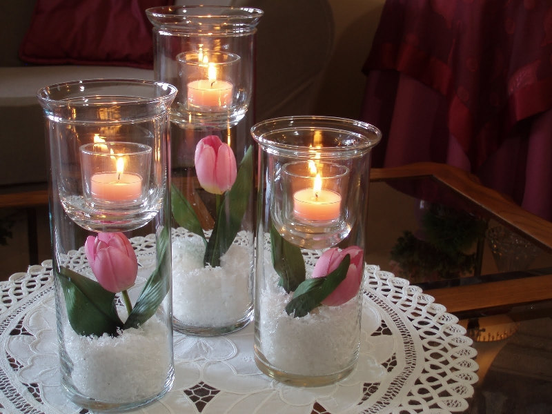 Красивые подсвечники в подарок на 8 марта