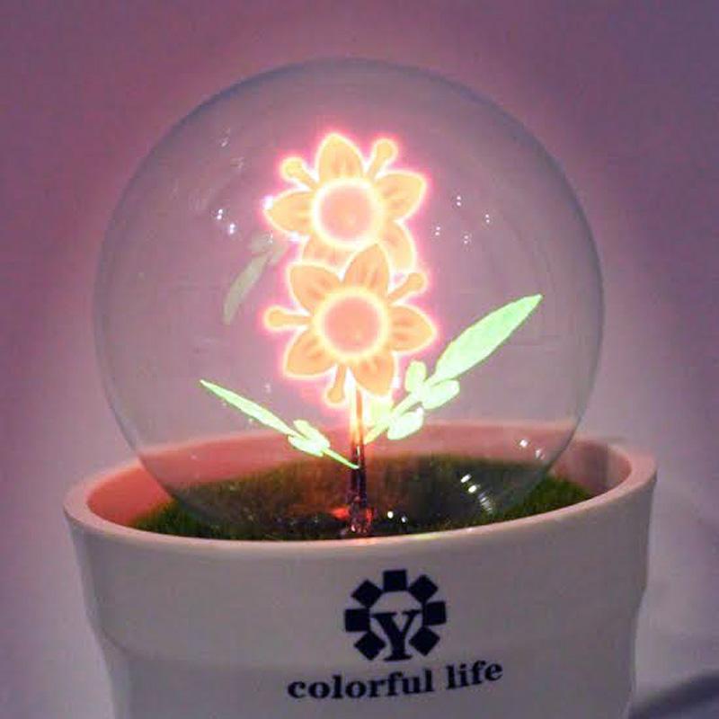 Светильник в виде цветка для девочек