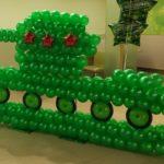 Фото 56: Декорация так из воздушных шаров на 23 февраля