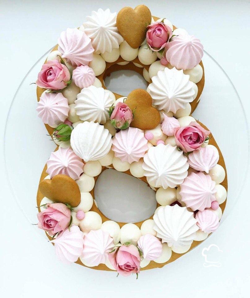 Торт на 8 Марта из печенья