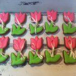 Фото 37: Печенье в виде тюльпанов к 8 Марта