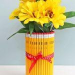 Фото 52: Ваза, украшенная карандашами