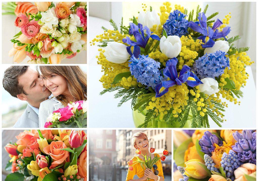 Красивые весенние букеты на 8 Марта для женщин