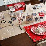 Фото 79: Декор стола на 14 февраля