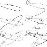 Фото 25: Нарисовать самолет карандашом поэтапно