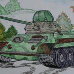 Фото 42: Пейзаж с танком нарисовать карандашом