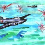 Фото 29: Военное небо акварелью на 23 февраля