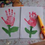 Фото 32: Как нарисовать ладошками цветы на 8 марта