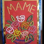 Фото 119: Открытка с бисером на 8 марта маме