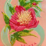 Фото 120: Украшение открытки бисером на 8 марта