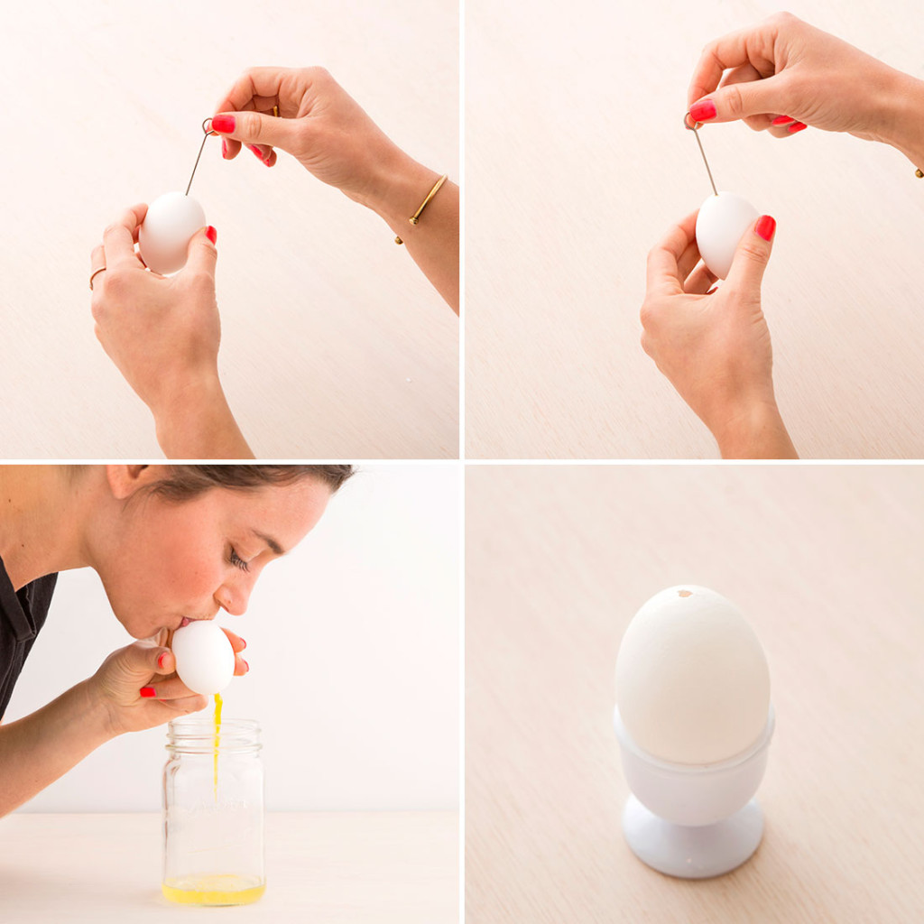 Выпускание жидкости из яйца