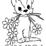 Фото 100: Раскраска рисунок с щенком на 8 Марта